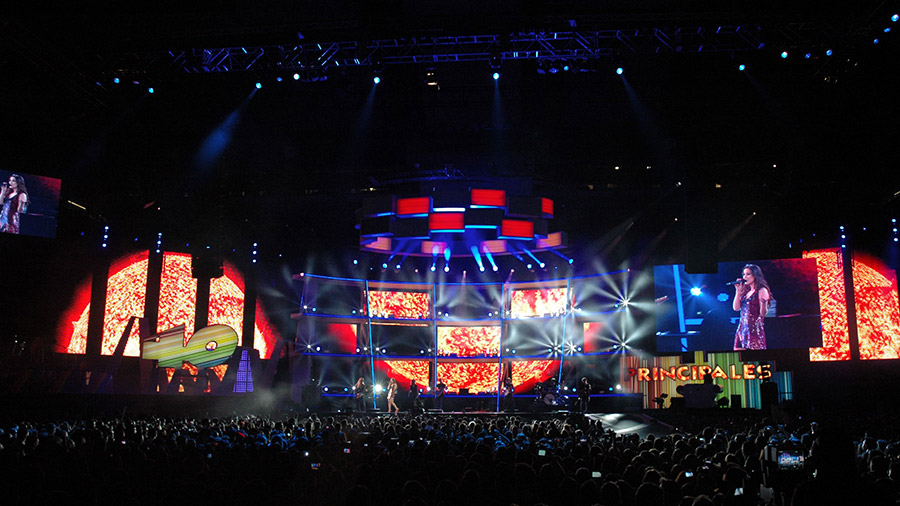 Los 40 Music Awards. Diseño de visuales